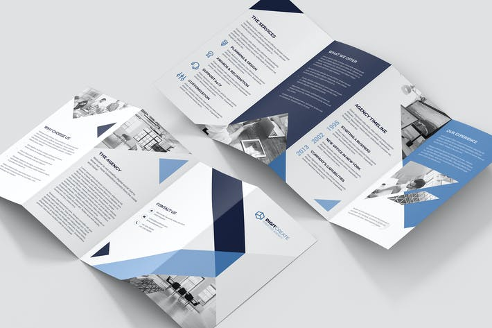 Cover Image For Brochure – Digital Agency 4-Fold