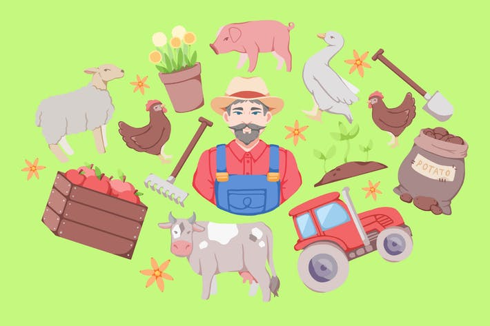 Thumbnail for Farm Day Clipart