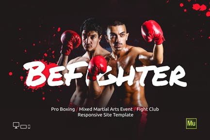BeFighter - Boxing / MMA Sport Event Site Template