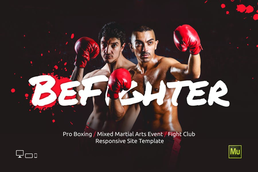 BeFighter - Boxing / MMA Sport Event Site Template - product preview 0