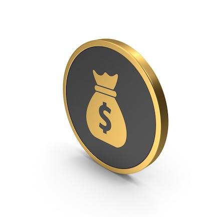 Gold Icon Money Bag