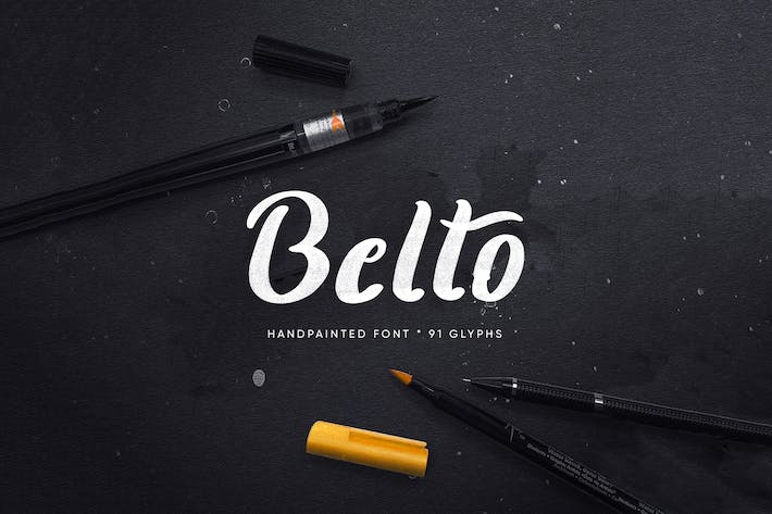 Thumbnail for Belto Font - Textured & Hand-Painted