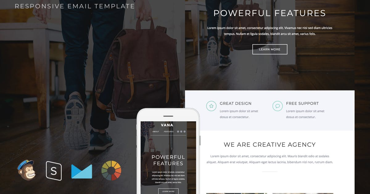 Download Vana - Responsive Email + StampReady Builder by LEVELII