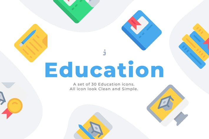 Thumbnail for 30 Education and Learning  Icons - Flat
