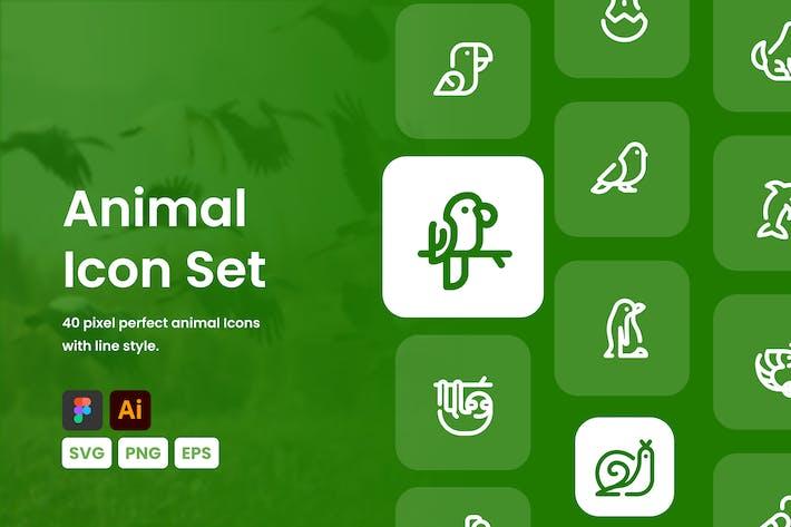 Thumbnail for Animals Icon Set