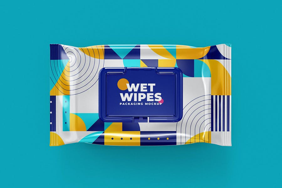Wet Wipes Mock-Up Template