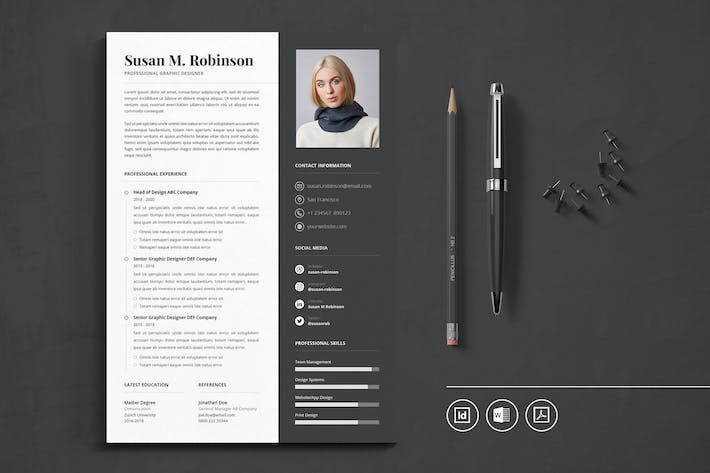 Thumbnail for Professional CV Resume Indesign Template Vol.30