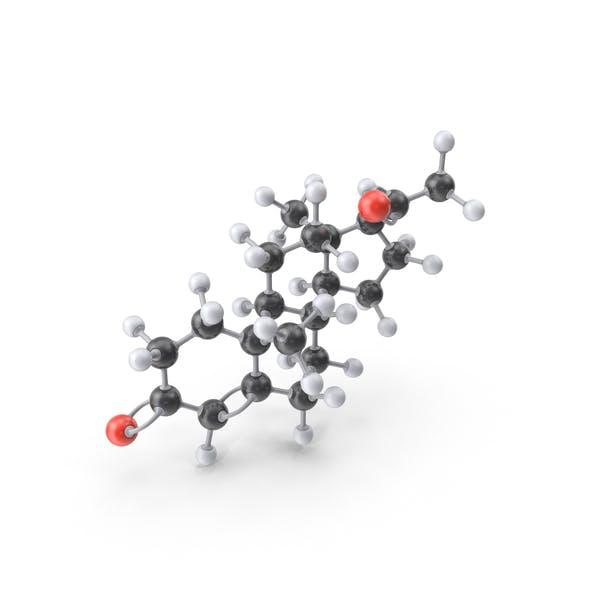 Thumbnail for Progesterone Molecule