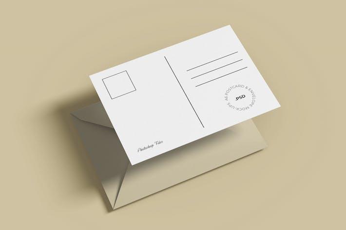 Thumbnail for A6 Postcard and Envelope Mockup