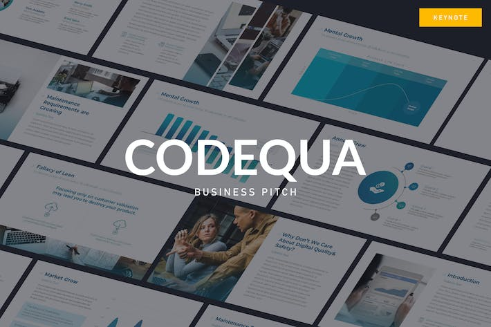 Thumbnail for CODEQUA - Business Pitch Keynote Vorlage