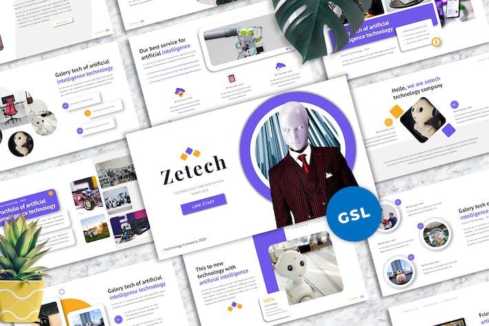 Thumbnail for Zetech - Технологические Шаблоны Googleslide