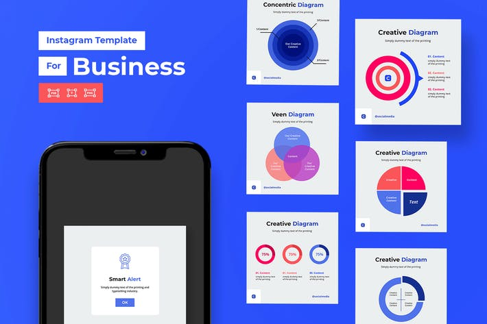 Chart & Graph Instagram for Corporate and Business