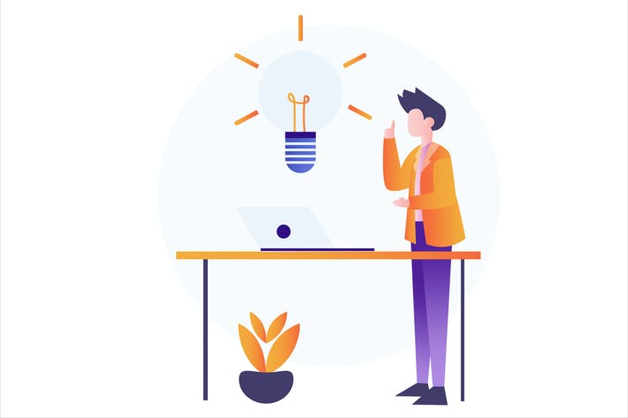 Thumbnail for Investment Idea Flat Vector Illustration