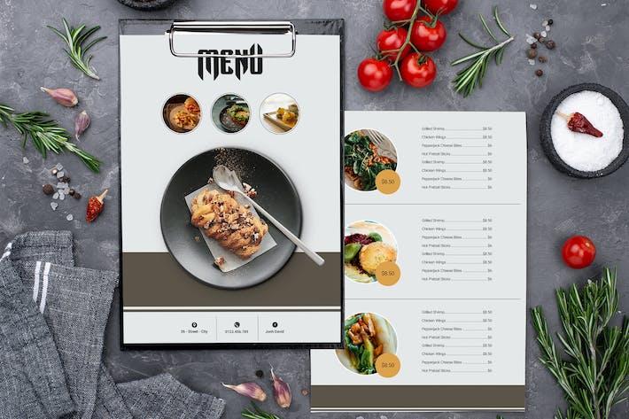 Thumbnail for Menu Restaurant Two Sided Menu List Template