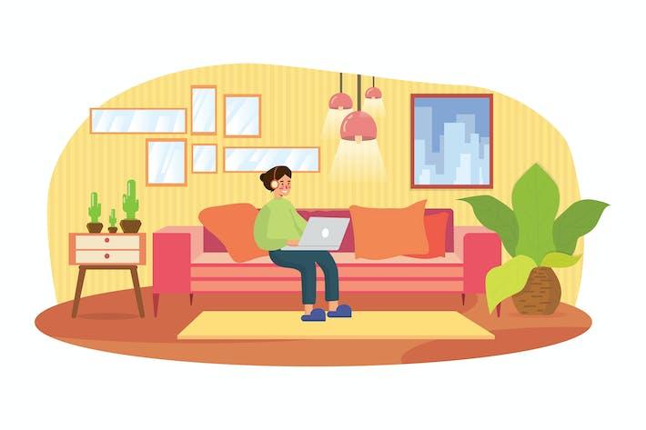 Entspannen Sie sich lässigen Stil zu Hause