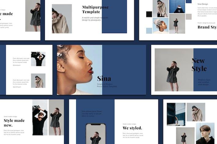 Thumbnail for SINA - Google Slides Style Template