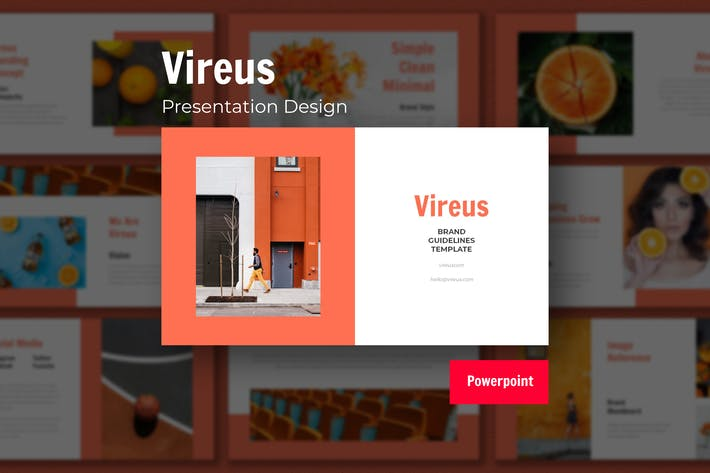 Thumbnail for Vireus - Шаблон дизайна презентации Powerpoint