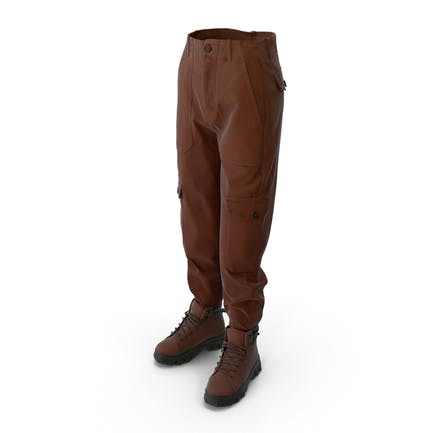 Women's Boots Pants Brown