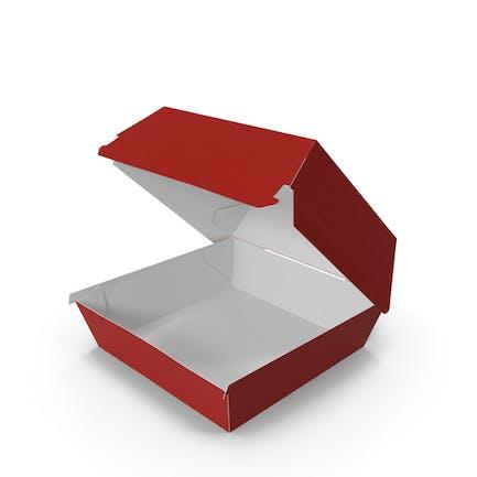 Коробка для бургеров Открытая Красный Белый