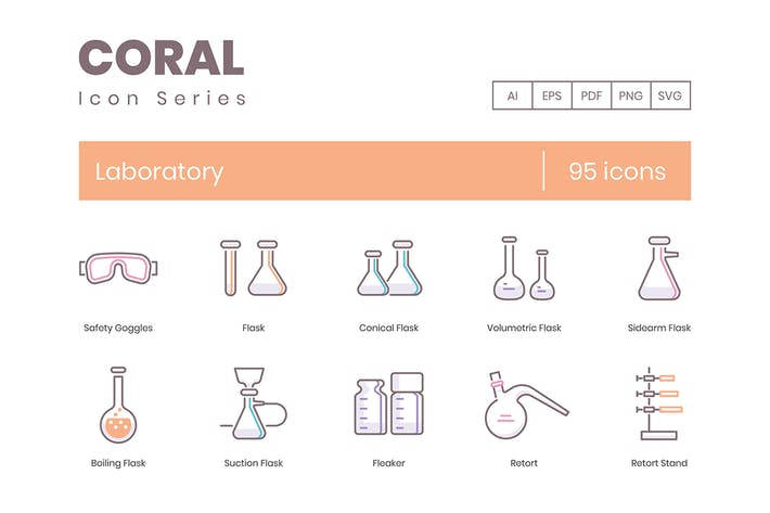 Thumbnail for Laboratory Icons - Coral Series