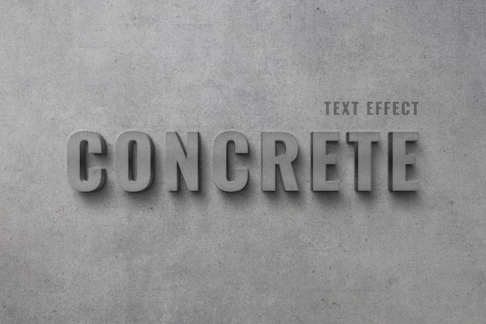 Thumbnail for Concrete Wall Text Effect