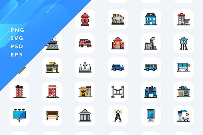 50 Urbane Icons