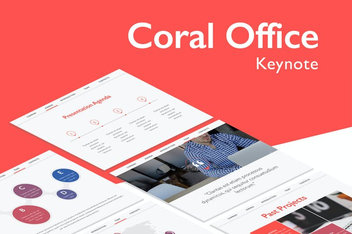 Thumbnail for Coral Office Keynote Template