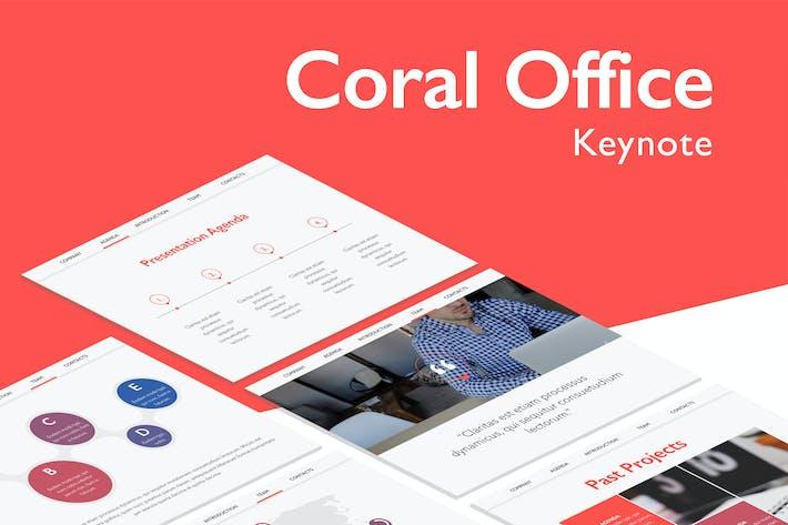 Thumbnail for Шаблон Keynote Кораллового офиса
