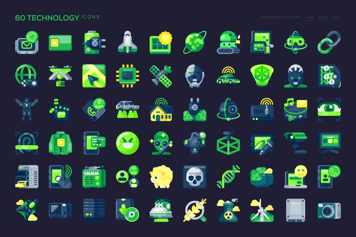 Thumbnail for 60 Technology Icons
