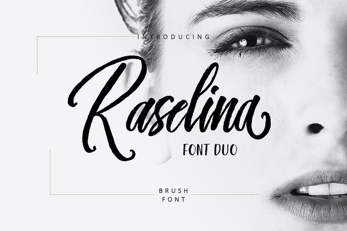 Thumbnail for Raselina Font Duo