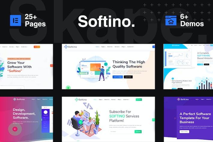 Thumbnail for Softino - Creative Software Landing Page