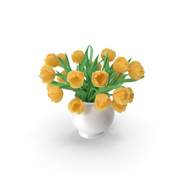 Thumbnail for Yellow Tulips Bouquet In The Vase
