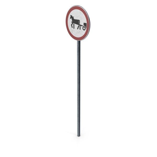 Дорожный знак лошадь нарисованные транспортные средства запрещены с полю