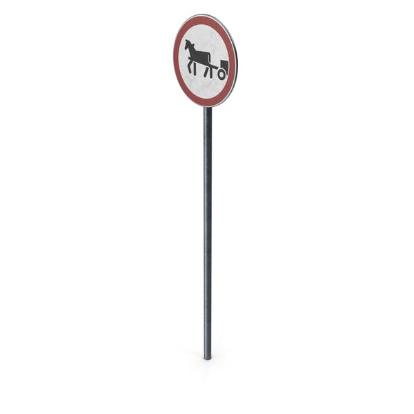 Thumbnail for Traffic Sign Horse Drawn Vehicles Prohibited With Pole