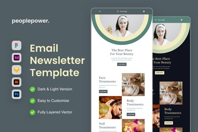 Beauty Care Email Newsletter Template