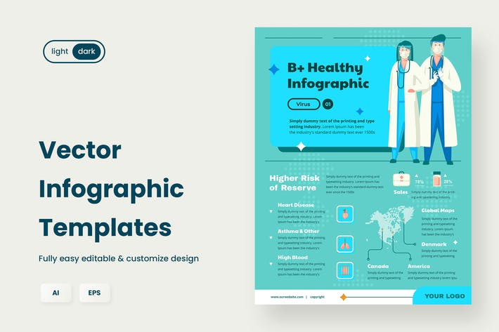 Thumbnail for Infographic examples for Healthcare & Medical