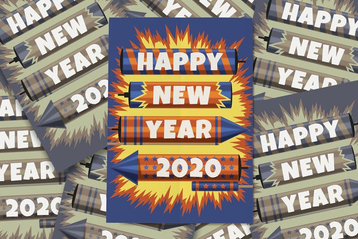 Thumbnail for New Year Fireworks Flyer