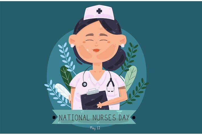 National Nurses Day Illustration