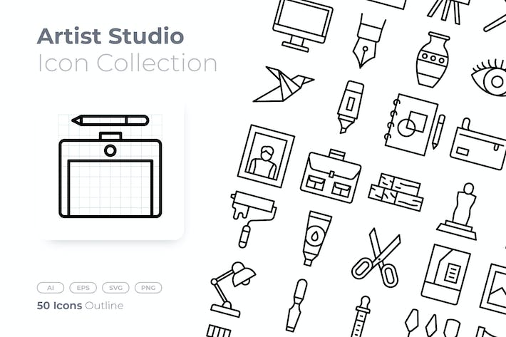 Thumbnail for Artist Studio Outline Icon