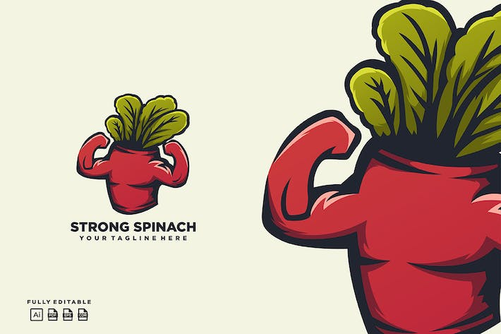 Thumbnail for Spinach Strong Logo
