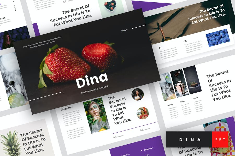 Dina - Food PowerPoint Template