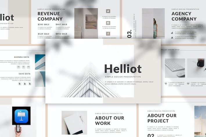 Thumbnail for Helliot - Multipurpose Keynote Template
