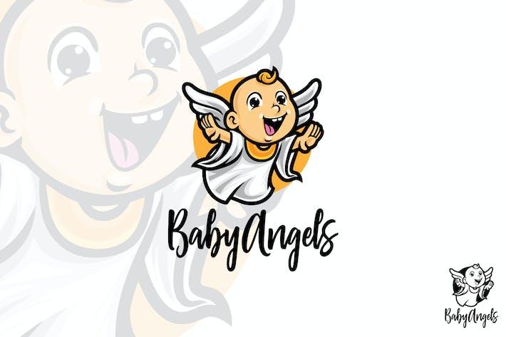 Thumbnail for Baby Angel Vector Logo Mascot