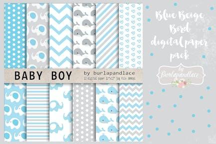 Baby Boy Pack papier numérique