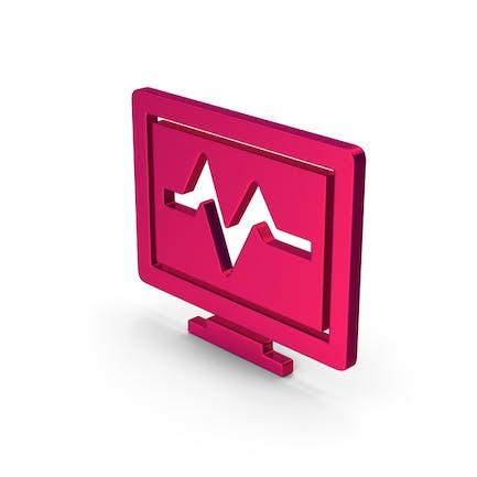 Symbol Health Monitor Metallic