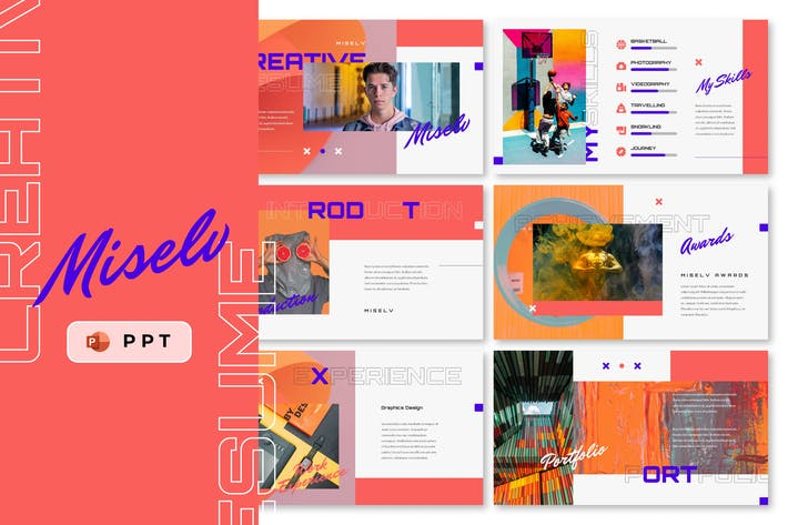 Thumbnail for MISELV - Creative Resume Powerpoint Template