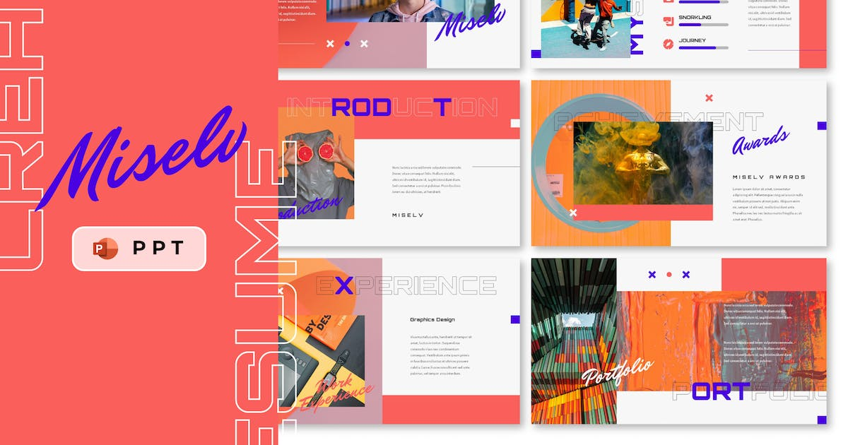 Download MISELV - Creative Resume Powerpoint Template by inipagi