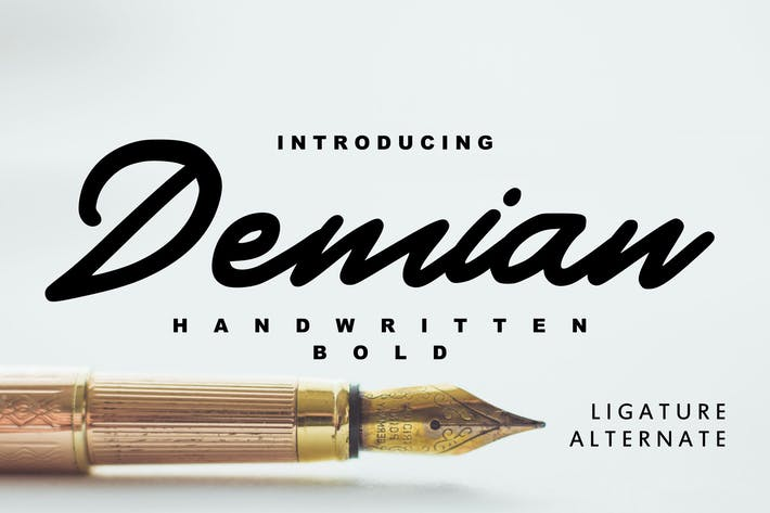 Thumbnail for Demian - Handwritten Bold Typeface