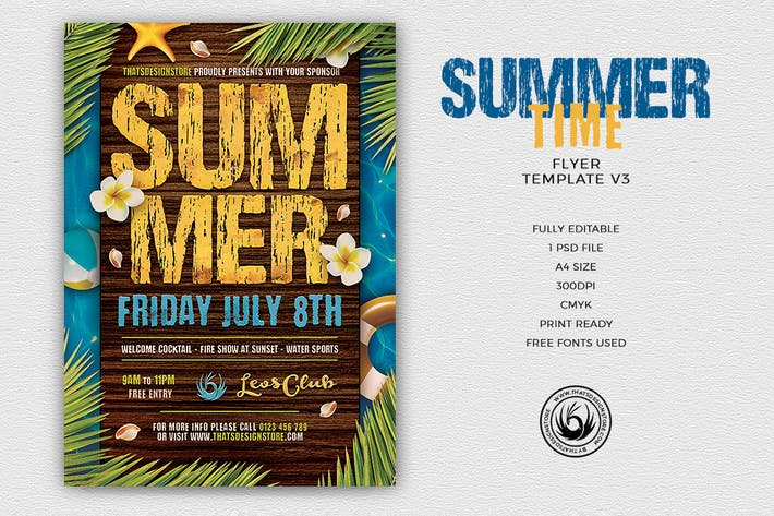 Thumbnail for Summertime Flyer Template V3