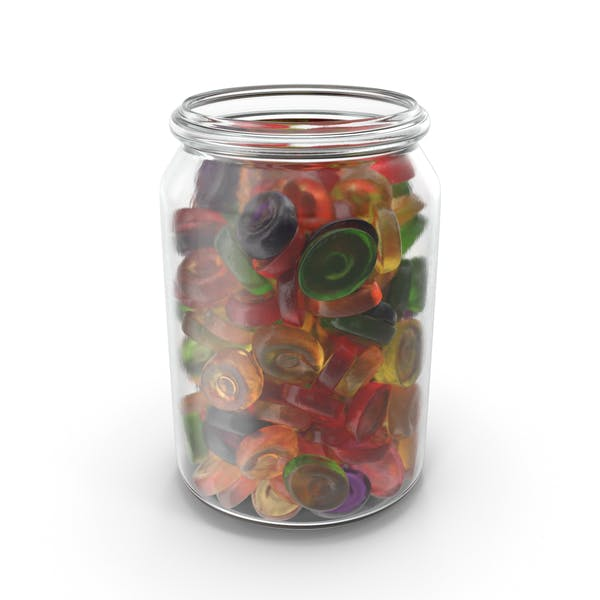 Jar With Oval Hard Candy